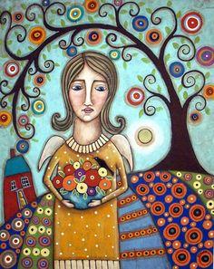 Karla Gerard Angelas Garden ACEO Print   eBay