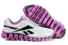 Reebok Zig FUEL Mens White Purple Black Christmas Deals HEFJS 4eed7d4e7