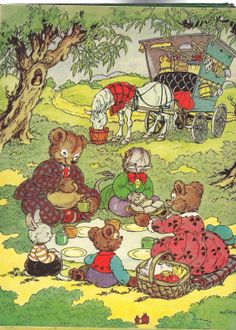 Little Brown Bear and His Friends by Elizabeth Upham (1952).  Illustrated by Marjorie Hartwell.