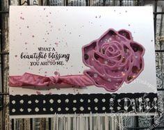 stampin up, handmade, card making, rose wonder, rose garden thinlets, flowers, shaker card
