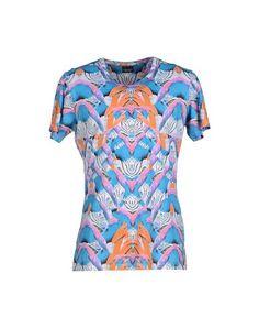 Marcelo Burlon County Of Milan T-shirt In Azure Round Collar, Beachwear, Milan, Men Casual, Short Sleeves, Coat, Skirts, Pattern, Mens Tops