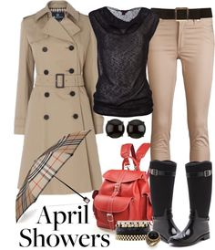 """""""April Showers Bring Out the Hip Rain Gear"""" by angela-windsor on Polyvore"""