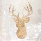 Modern Head deer Collection on Society6.