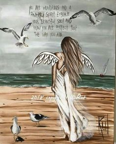 """I love these """"angel art"""" paintings, but in doing similar, I would use scripture. Rock Kunst, I Believe In Angels, Angel Pictures, Angels Among Us, Angel Cards, Guardian Angels, Beautiful Soul, Painted Rocks, Art Drawings"""
