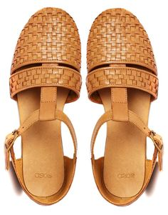leather t-bar flat shoes