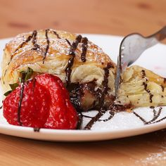 Double Chocolate and Fruit Breakfast Pastry Recipe by Tasty