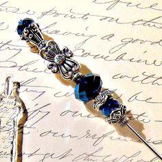 Queen of the Night Victorian hat pin ♥ by GaffneyGirlStudio on Etsy
