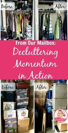 Decluttering Momentum in Action pin at ASlobComesClean.com