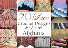 Free Lace Crochet Patterns - Sometimes we just need a break from the craziness of life and we need clean and simple crochet patterns. Keep it simple with these lace crochet patterns.
