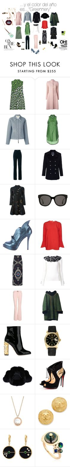 """...Y el color del año es....""Grennery"""" by angiecip on Polyvore featuring moda, Miu Miu, Alexander McQueen, Marni, Manila Grace, Gucci, Saint James, Valentino, Gentle Monster y Jerome C. Rousseau"