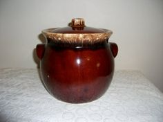 Vintage Hull Pottery Brown Drip Bean Crock or by SusOriginals, $12.00