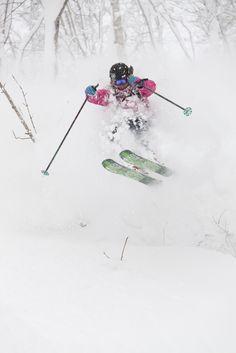 #skiing #powder