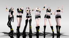 MMD Idolm@ster Outfits -DL- by KhrisMx on DeviantArt DOWNLOAD: sta.sh/026o11j2lcka