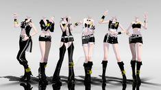 mmd_idolm@ster_outfits - de gauche à droite : Takane // Miki // Mikoto // Ami & Mami // Chihaya // Azusa