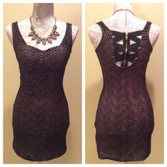 """Material Girl Night Out Party Dress Approx Measurements Bust: 34"""" Waist: 25"""" Length: 31""""  Back Criss Cross Detailing with Zipper Padded Bust ( Padding NOT removable)  100% Polyester Material Girl Dresses Mini"""