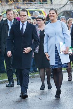 Crown Princess Victoria and Prince Daniel visited Varmland on November 18, 2015.