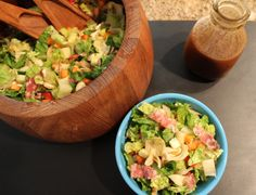 "Chopped Italian Salad with Balsamic Vinaigrette ""House Dressing"""