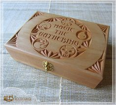 Magic the Gathering card box chip carved  MTG by Alesthewoodcarver, $142.00