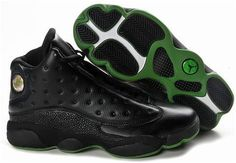 Cheap Men's Nike Air Jordan 13 Shoes Black/Dark Green 13 Shoes For Sale from official Nike Shop. Green Jordans, New Jordans Shoes, Air Jordans, Men's Shoes, Jordan 13 Shoes, Michael Jordan Shoes, Air Max Sneakers, Sneakers Nike, Wholesale Nike Shoes