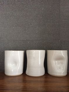 Our signature handprint tumblers in porcelain glazed in a food safe glaze. The tumblers are microwave and dishwasher safe and make a great unique gift! Safe Food, Tumbler, Unique Gifts, My Etsy Shop, Porcelain, Ceramics, Mugs, Drinkware, Porcelain Ceramics