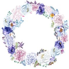 VK is the largest European social network with more than 100 million active users. Wreath Watercolor, Watercolor Cards, Watercolor Flowers, Pastel Wallpaper, Wallpaper Backgrounds, Wallpapers, Boarders And Frames, Flower Silhouette, Cute Frames