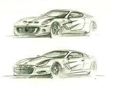ferrari 250 GTO  front view concepts sketches