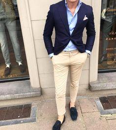 Mens Fashion Smart – The World of Mens Fashion Blazer Outfits Men, Mens Fashion Blazer, Outfits Casual, Stylish Mens Outfits, Suit Fashion, Mode Outfits, Men Casual, Fashion Hats, Casual Styles