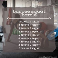 Ready for a fast paced full body workout that is simple and you can do anywhere? Complete this burpee squat battle for time and get on with your day! Treadmill Workouts, Weight Training Workouts, Easy Workouts, At Home Workouts, Month Workout, Workout Challenge, Workout Plans, Fit Girl Motivation, Fitness Motivation