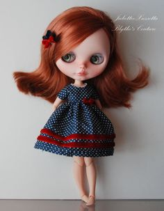 Blythe dress and  hair pin by juliettaexussetta on Etsy
