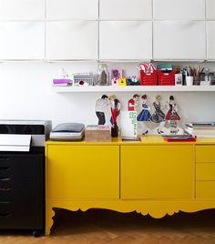 Display pictures and collections   Elisabeth's vintage TROLLSTA cabinet makes a statement and provides storage.