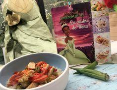 """Quelle belle surprise de voir le nouveau thème du Foodista challenge de Juillet : """"Cuisinons avec notre âme d'enfant"""" !En voyant l'illustration du thème, la re Tiana, Fresh Rolls, Challenges, Ethnic Recipes, Illustration, Food, Gumbo, Chicken, Kid"""