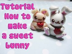 Tutorial Dolce Coniglio in  Pasta Polimerica  - How to make a sweet Bunny with polymer Clay