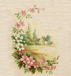 Подборка цветов для творчества / Декупаж / Картинки для декупажа
