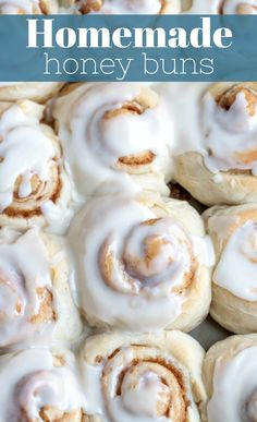 Factors You Need To Give Thought To When Selecting A Saucepan Best Homemade Honey Buns This Easy Homemade Honey Bun Recipe Makes Soft Sweet Rolls Topped With Honey Butter Icing In About An Hour. Healthy Bread Recipes, Best Bread Recipe, Honey Recipes, Baking Recipes, Baking Pan, Sweet Recipes, Homemade Honey Bun Recipe, Honey Bun Cake Recipe From Scratch, Honey Dessert