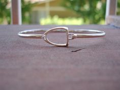 Large Stirrup Bangle Bracelet Sterling Silver by nongbuadang