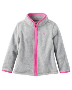 Baby Girl Full-Zip B'gosh Fleece Cozies from OshKosh B'gosh. Shop clothing &…