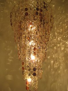 Chandelier made from eyeglasses