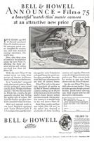 Bell & Howell Filmo 75 Movie Camera 1928 Ad Picture