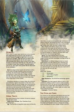 DnD Homebrew — Atrial Race by Brynvalk Dungeons And Dragons Races, Dungeons And Dragons Classes, Dungeons And Dragons Homebrew, Fantasy Races, Fantasy Rpg, 5e Races, Dnd Classes, Dnd 5e Homebrew, Science Fiction