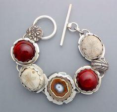 Agate Stalactite Bracelet with Carnelian by Temi Kucinski
