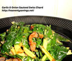 Garlic and Onion Sauteed Swiss Chard