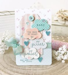 Baby Card by Melissa Phillips for Papertrey Ink (May 2018)