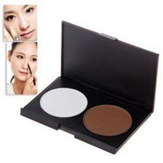 $4.53 Wonderful 2 Colors Charming Make-up Shading Powder Shadow Face Cosmetic Powder Kit