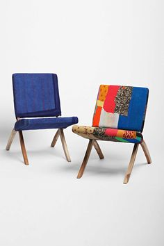 One-Of-A-Kind Kantha Folding Chair
