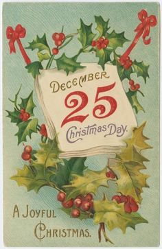 Christmas postcard    New York Public Library Digital Gallery   free and public access