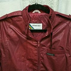 Vintage Member's Only Jacket Authentic burgundy Member's Only jacket, NWOT, in excellent condition. Size 38L, which will fit a medium I think. Timeless, unisex jacket. Handpicked item in unworn condition. Member's Only Jackets & Coats
