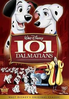 101 Dalmatians (1961) Shortly after celebrating the birth of 15 pups, Dalmatians Pongo and Perdita find themselves on a mission to save their offspring from the clutches of the dastardly Cruella De Vil before she turns the cuddly canines into a fabulous fur coat. With the aid of London's underground dog network, the determined Pongo and Perdita stage a daring rescue in this animated Disney classic featuring one of the screen's most hissable villains.
