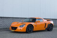 Opel speedster, vx220, with hardtop. Chrome orange