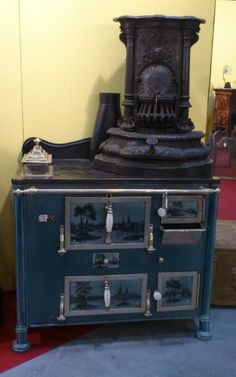 Vintage enamel stove