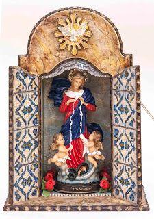 Angélica T. Almstadter: Oratórios artesanais iluminados pra vender